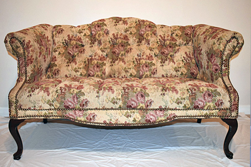 Shabby Chic Floral Settee Dimension: To Come. MARLENE. MARLENE French  Provincial Settee